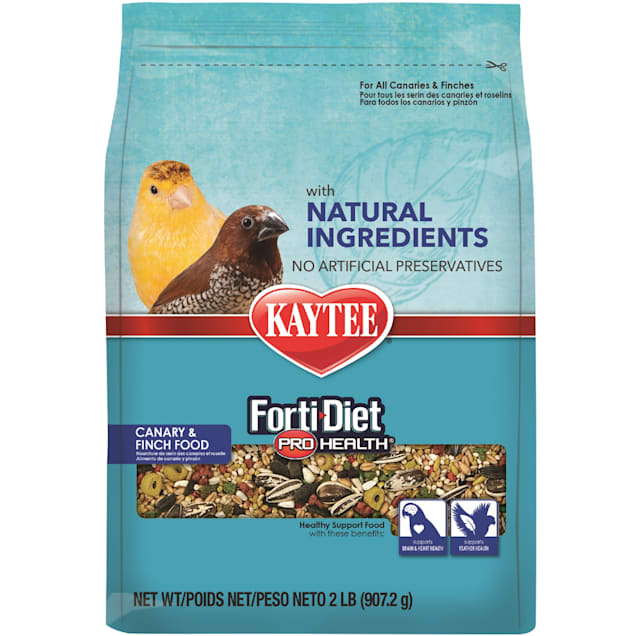 Kaytee Forti-Diet Pro Health with Natural Colors Canary and Finch Food, 2 lbs. - Carousel image #1