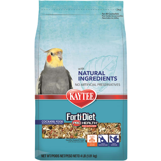 Kaytee Forti-Diet Pro Health Natural with Safflower Cockatiel Food, 4 lbs. - Carousel image #1