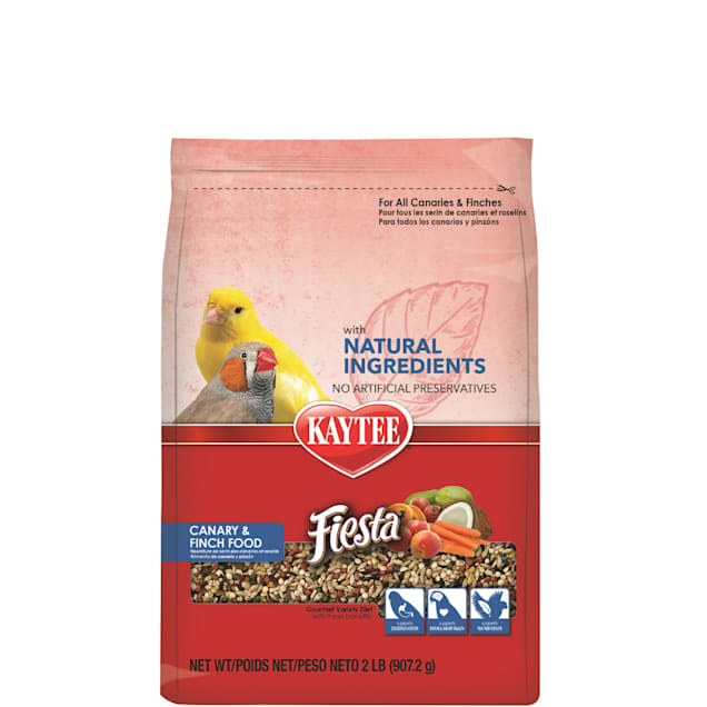 Kaytee Fiesta with Natural Colors Canary/Finch Food, 2 lbs. - Carousel image #1