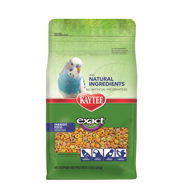 Kaytee Exact Fusion with Natural Colors Parakeet Food, 3 lbs. - Carousel image #1