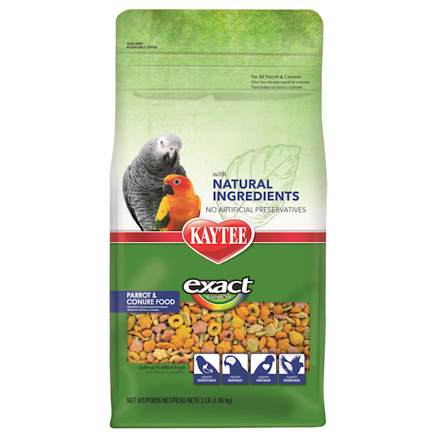 Kaytee Exact Rainbow with Natural Colors Parrot and Conure Food, 3 lbs. - Carousel image #1