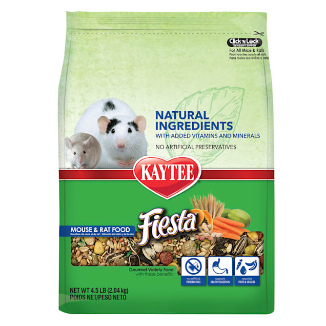 Kaytee Fiesta Naturals Mouse and Rat Food, 4.5 lbs. - Carousel image #1