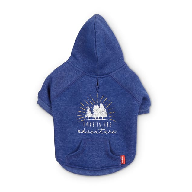 Reddy Blue Love is the Adventure Fleece Dog Hoodie, X-Small - Carousel image #1