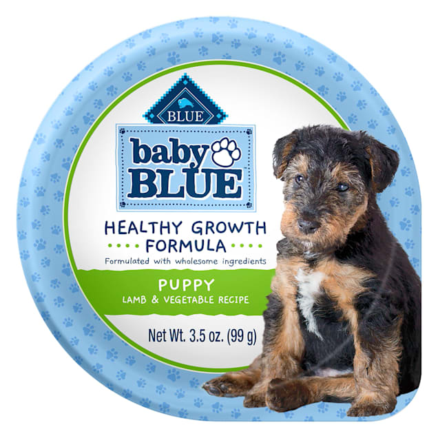 Blue Buffalo Baby Blue Healthy Growth Formula Natural Lamb & Vegetable Recipe Wet Puppy Food, 3.5 oz., Case of 12 - Carousel image #1