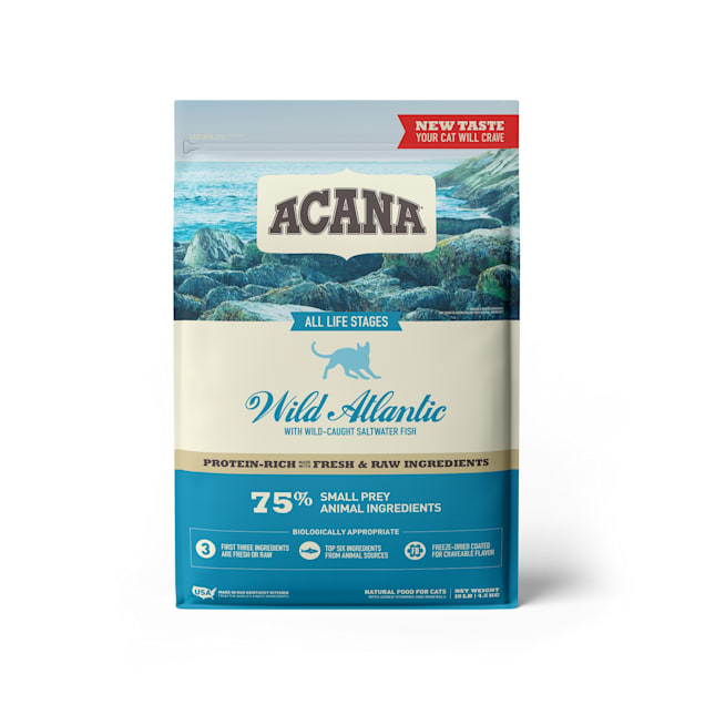 ACANA Grain-Free Wild Atlantic Saltwater Fish with Freeze-Dried Liver Dry Cat Food, 10 lbs. - Carousel image #1
