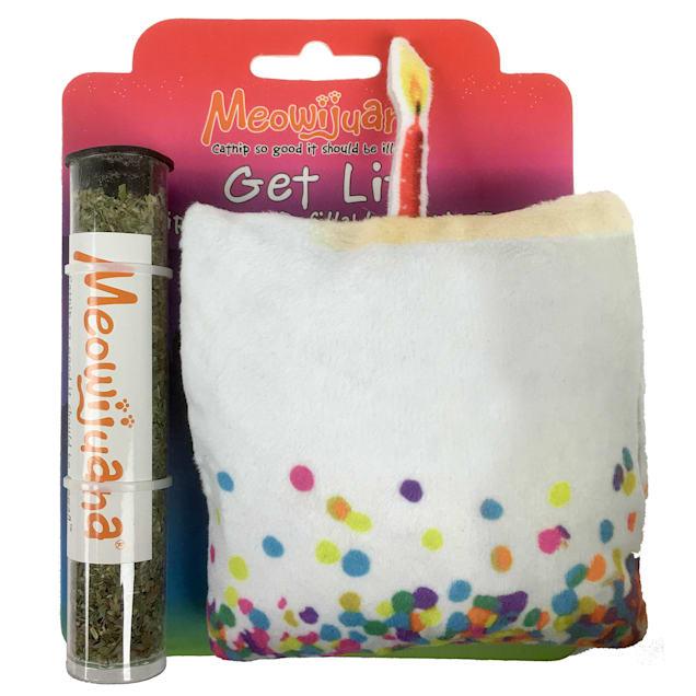 Meowijuana Refillable Get Lit Cake Catnip Cat Toy, Medium - Carousel image #1