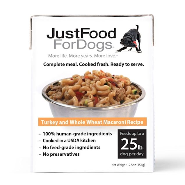 JustFoodForDogs Pantry Fresh Adult Turkey & Whole Wheat Macaroni Wet Dog Food, 12.5 oz., Case of 12 - Carousel image #1