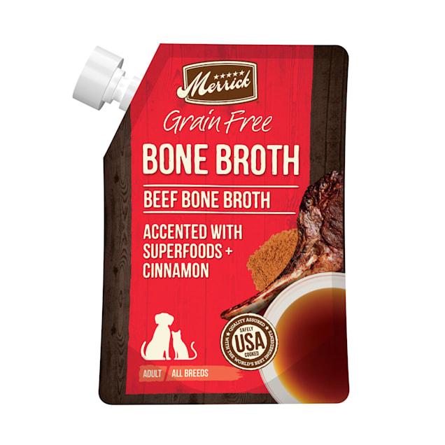 Merrick Grain Free Beef Bone Broth Wet Dog Food Topper, 16 oz. - Carousel image #1