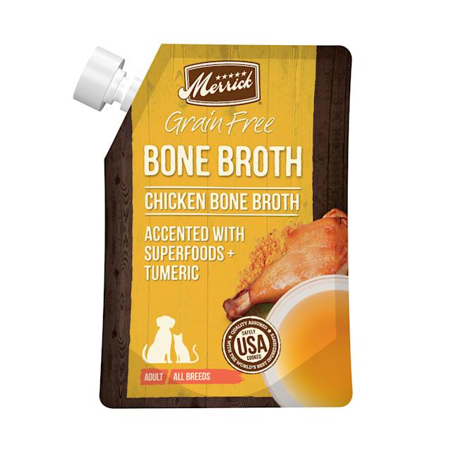 Merrick Grain Free Chicken Bone Broth Wet Dog Food Topper, 16 oz. - Carousel image #1