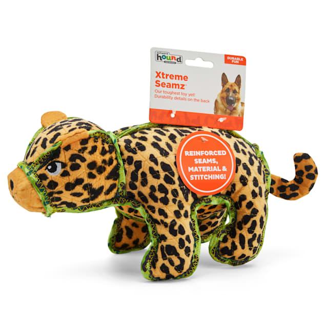 Outward Hound Xtreme Seamz Leopard Dog Toy, Medium - Carousel image #1