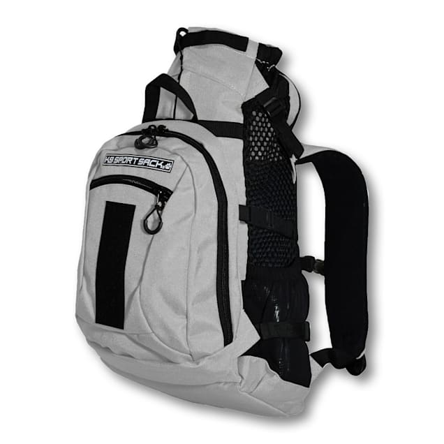 """K9 Sport Sack Air Plus Grey Backpack Pet Carrier With Storage, 10"""" L X 9"""" W X 17"""" H - Carousel image #1"""