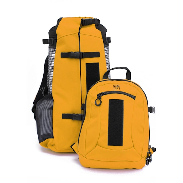 """K9 Sport Sack Air Plus Yellow Backpack Pet Carrier With Storage, 10"""" L X 9"""" W X 17"""" H - Carousel image #1"""