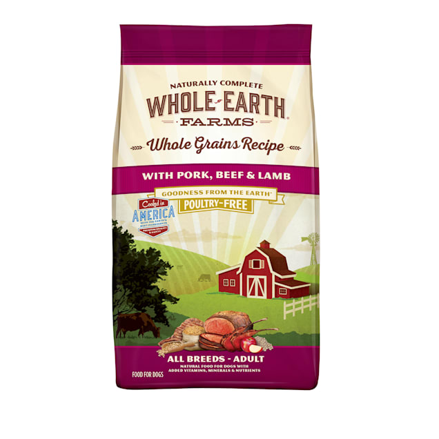Whole Earth Farms Whole Grains Recipe with Pork, Beef & Lamb Dry Dog Food, 25 lbs. - Carousel image #1