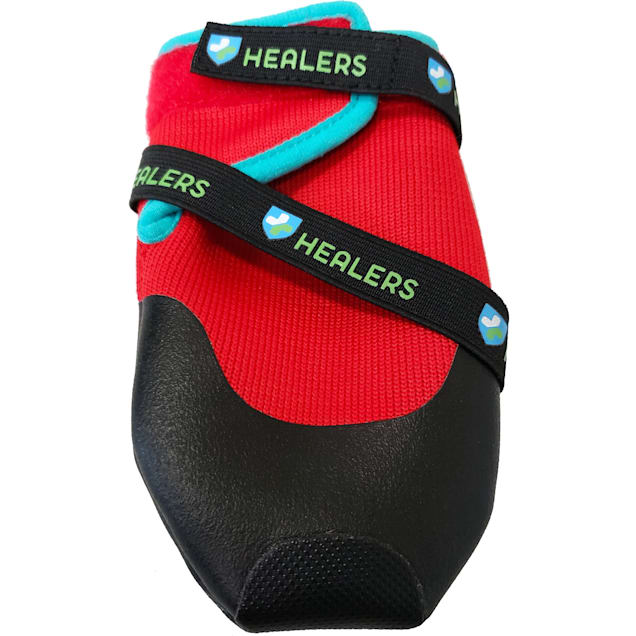 HEALERS Urban Walkers Dog Red Boots Set, X-Small - Carousel image #1
