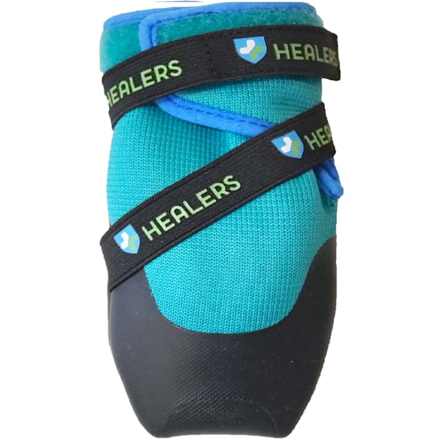 HEALERS Urban Walkers Dog Blue Boots Set, X-Small - Carousel image #1