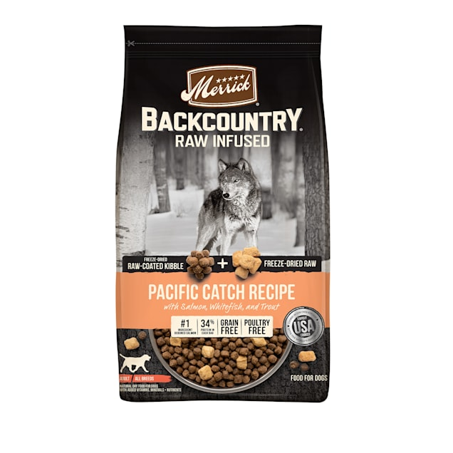 Merrick Backcountry Grain Free Raw Infused Pacific Catch Recipe Dry Dog Food, 20 lbs. - Carousel image #1