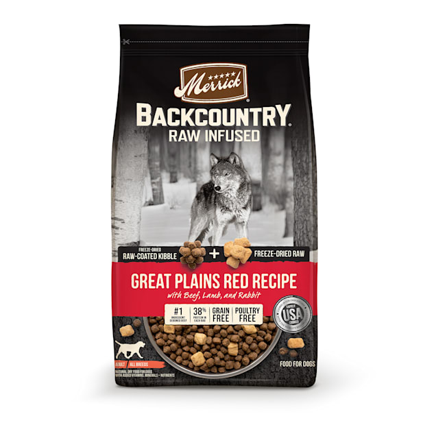 Merrick Backcountry Raw Infused Grain Free Great Plains Red Recipe Dry Dog Food, 20 lbs. - Carousel image #1