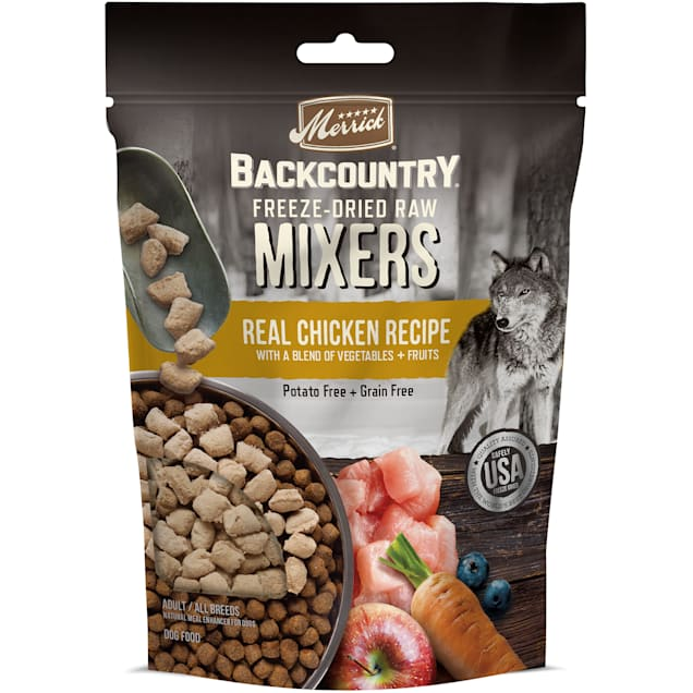 Merrick Backcountry Freeze Dried Mixer Chicken Recipe Adult Dog Food, 12.5 oz. - Carousel image #1