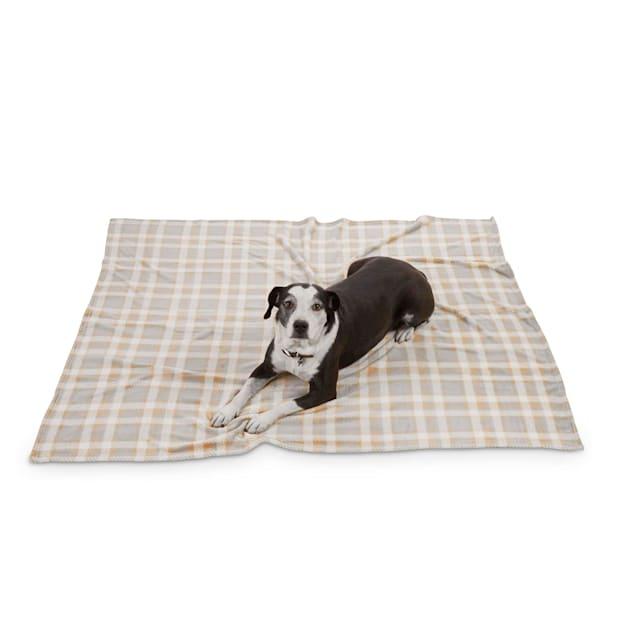"EveryYay Let's Snuggle Plaid Pet Throw, 60"" L X 50"" W - Carousel image #1"