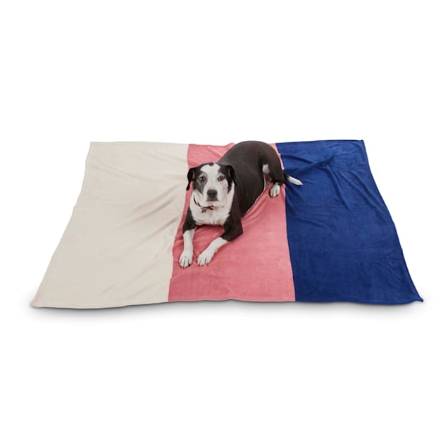 """EveryYay Let's Snuggle Colorblocked Pet Throw, 60"""" L X 50"""" W - Carousel image #1"""