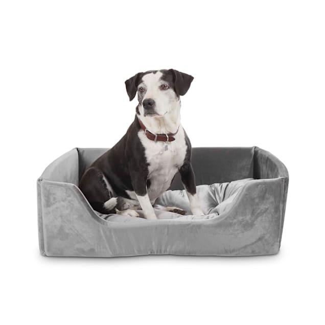 "EveryYay Grey Snooze Fest Cuddler Box Dog Bed, 24"" L X 32"" W - Carousel image #1"