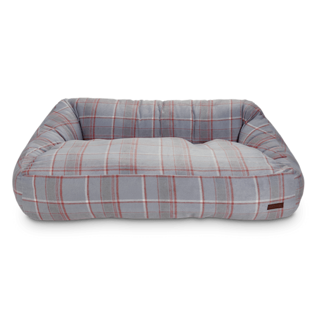 """Reddy Grey Plaid Flannel Lounger Dog Bed, 20"""" L X 24"""" W - Carousel image #1"""