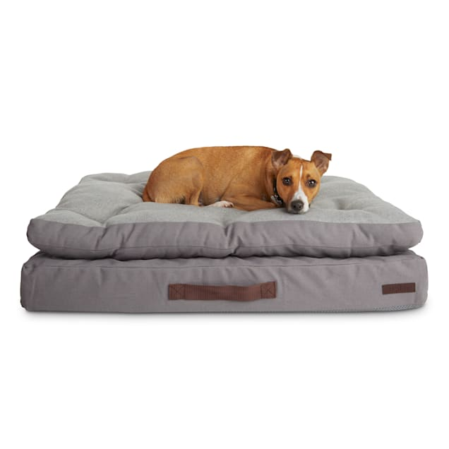 "Reddy Grey Double-Pillowtop Lounger Orthopedic Dog Bed, 32"" L X 24"" W - Carousel image #1"