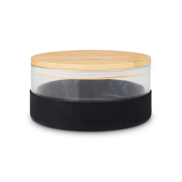 Reddy Trifecta Glass with Bamboo Lid Dog Bowl, 4.2 Cups - Carousel image #1