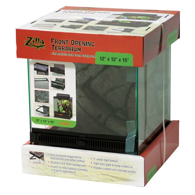 "Zilla Front Opening Terrarium, 12"" L X 12"" W X 15"" H - Carousel image #1"