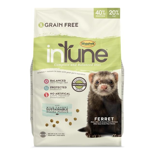 Higgins inTune Grain-Free Complete & Balanced Diet Ferret Food, 4 lbs. - Carousel image #1