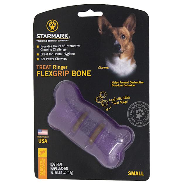 Starmark Treat Ringer FlexGrip Bone Dog Toys, Small - Carousel image #1