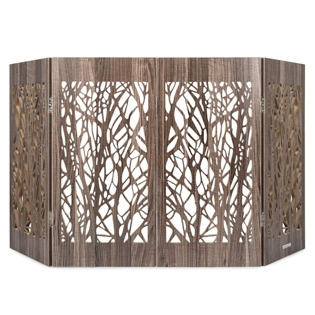 "Cardinal Gates Decorative Barnwood Branches Freestanding Pet Gate, 60"" L X 0.7"" W X 30"" H - Carousel image #1"