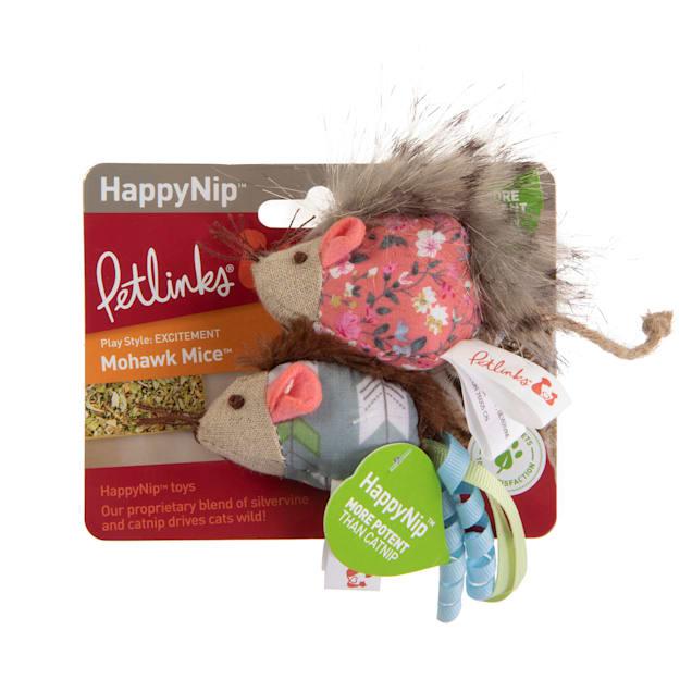 Petlinks HappyNip Mohawk Mice Plush Catnip Cat Toys, Small, Set of 2 - Carousel image #1