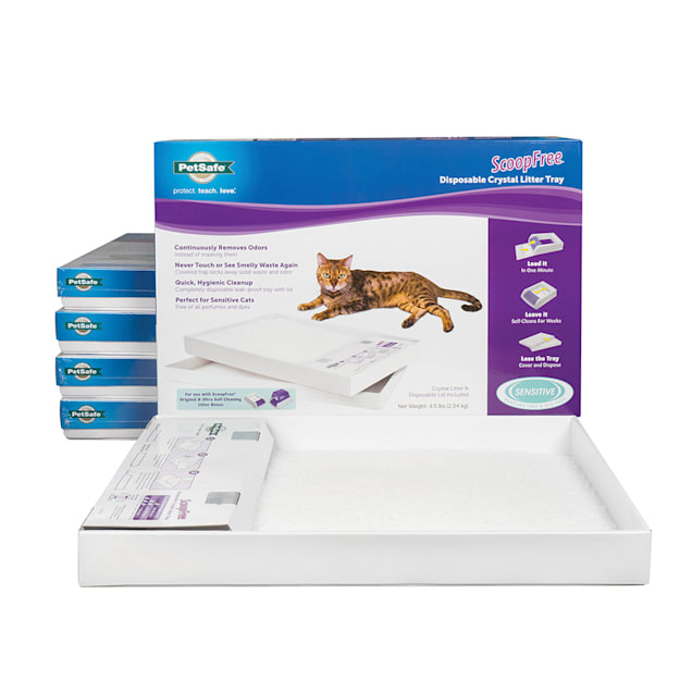 PetSafe ScoopFree Sensitive Disposable Crystal Cat Litter Tray, Pack of 6 - Carousel image #1