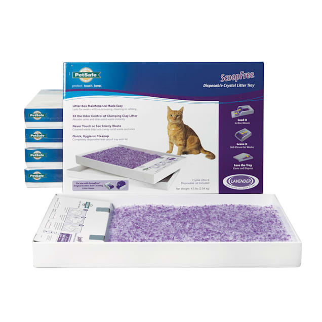 PetSafe ScoopFree Lavender Disposable Crystal Cat Litter Tray, Pack of 6 - Carousel image #1