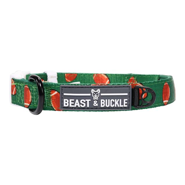 Beast & Buckle Football Dog Collar, Medium - Carousel image #1