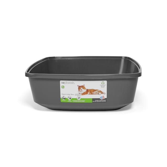 "So Phresh Charcoal Open Cat Litter Box, 22.5"" L X 17"" W X 5.5"" H - Carousel image #1"