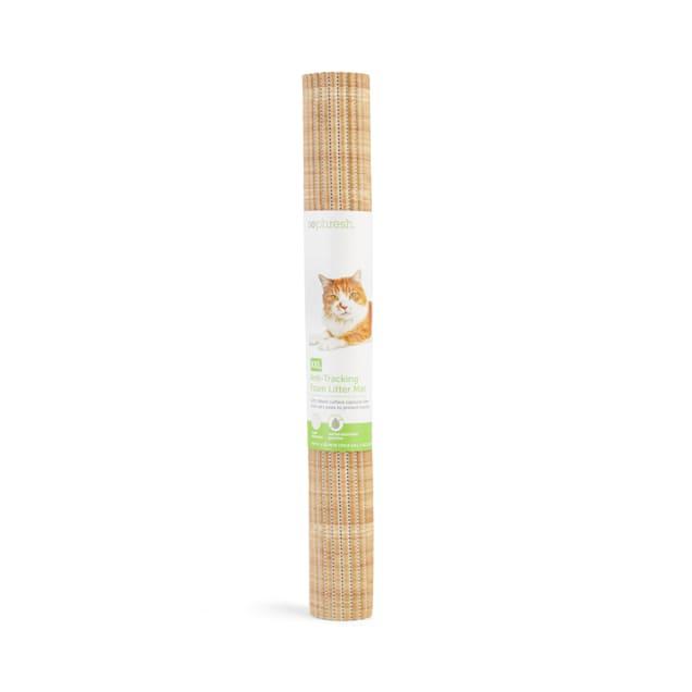 "So Phresh Bamboo-Print Anti-Tracking Cat Litter Trapper Mat, 40"" L X 25"" W - Carousel image #1"