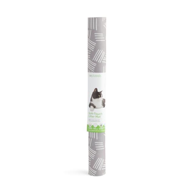 "So Phresh Brushed Grey Anti-Tracking Cat Litter Trapper Mat, 29"" L X 32"" W - Carousel image #1"