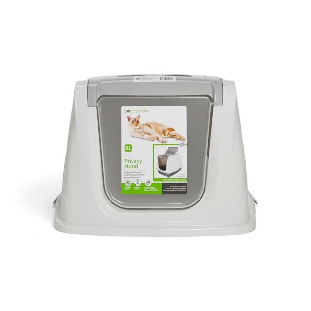 So Phresh White Two-Toned Flip Top Cat Litter Box Hood, X-Large - Carousel image #1