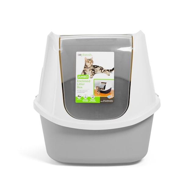 "So Phresh Grey Jumbo Enclosed Cat Litter Box, 23"" L X 19"" W X 19"" H - Carousel image #1"