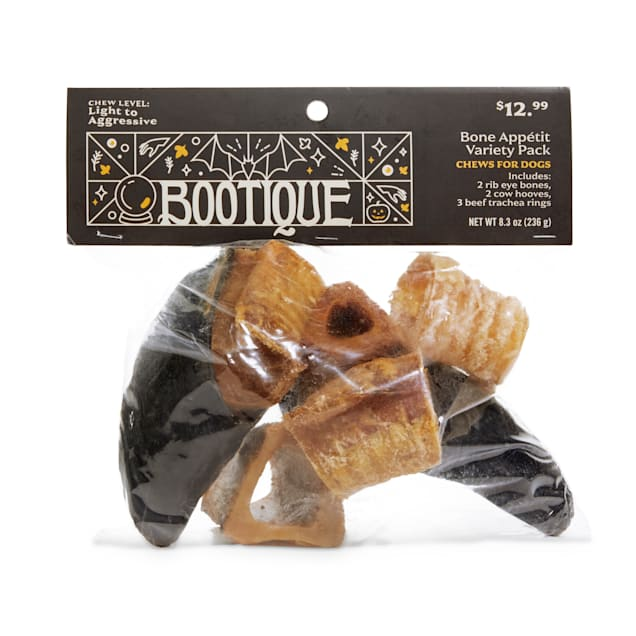 Bootique Bone Appetit Variety Pack Halloween Dog Chews, 8.3 oz. - Carousel image #1