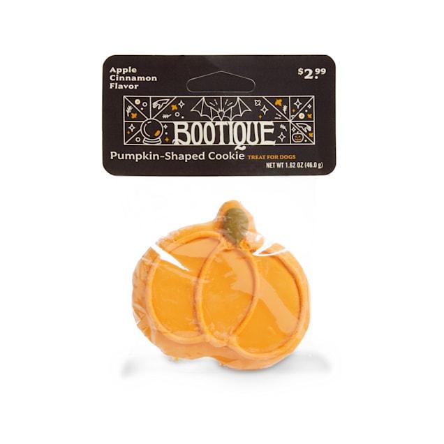 Bootique Pumpkin-Shaped Cookie Apple Cinnamon-Flavored Halloween Dog Treat, 1.62 oz. - Carousel image #1