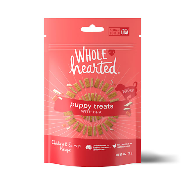 WholeHearted Chicken & Salmon Flavor Puppy Treats, 6 oz. - Carousel image #1