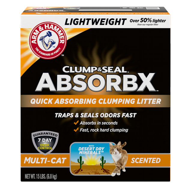 Arm & Hammer Clump & Seal AbsorbX Scented MultiCat Clumping Litter, 15 lbs. - Carousel image #1