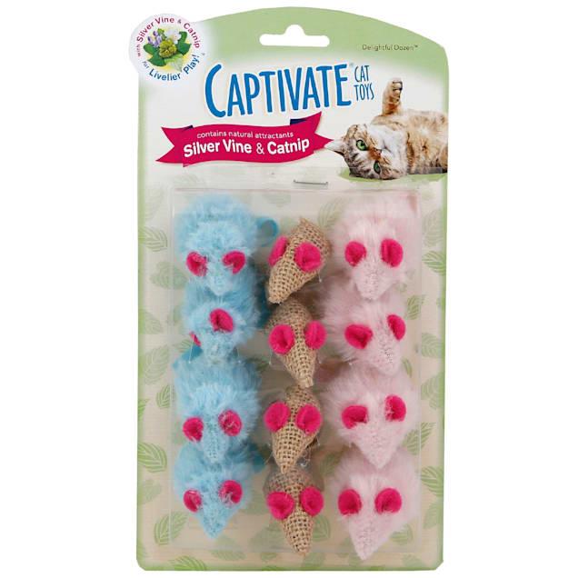 Captivate Delightful Dozen Cat Toys by Hartz - Carousel image #1