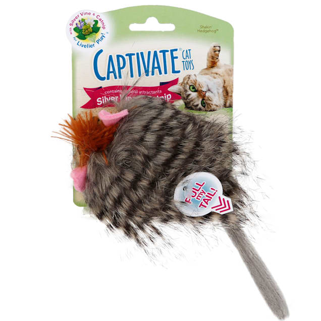 Captivate Shakin' Hedgehog Cat Toy by Hartz - Carousel image #1