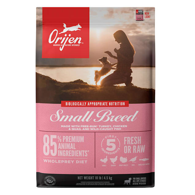 ORIJEN Small Breed Grain Free High Protein Fresh & Raw Animal Ingredients Dry Dog Food, 10 lbs. - Carousel image #1
