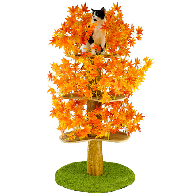 """On2Pets Fall Round Cat Tree, 60"""" H - Carousel image #1"""