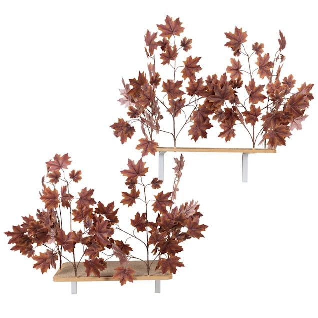 "On2Pets Plum Autumn Rectangle Cat Canopy Shelves, 16"" H - Carousel image #1"
